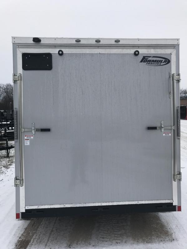 2019 Formula Trailers 7x14 Silver Ramp 12 Enclosed Cargo Trailer
