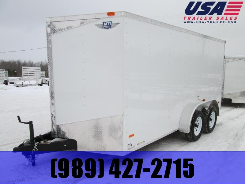 2019 MTI Trailers 7x14 White Ramp  Cargo Trailer
