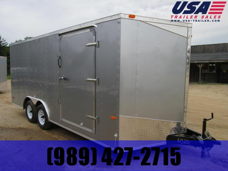 2019 MTI Trailers 7x14 silver Barn doors Enclosed Cargo Trailer