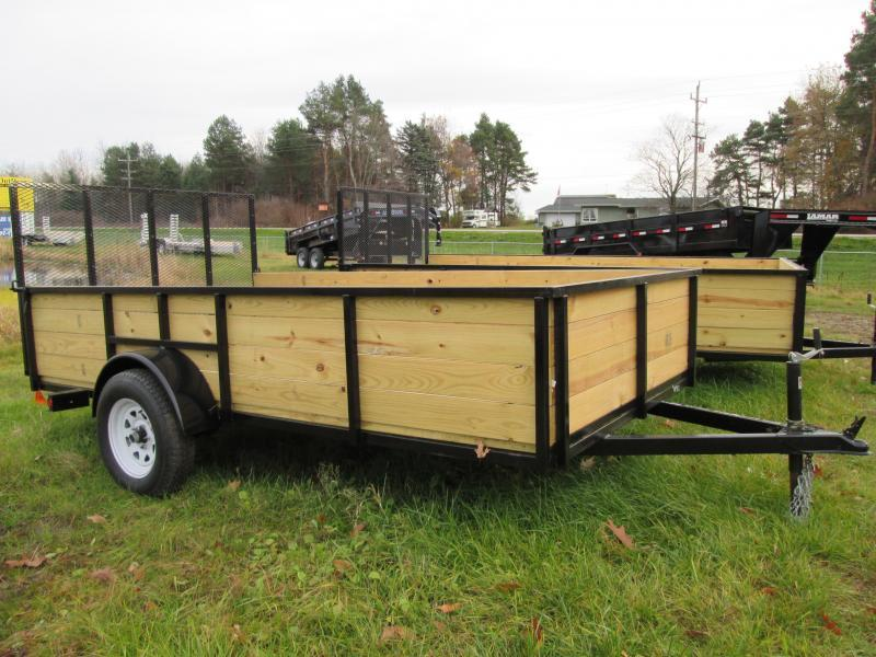 2018 GoldStar 6x14  Wood sided Landscape Tube Steel Utility Trailer