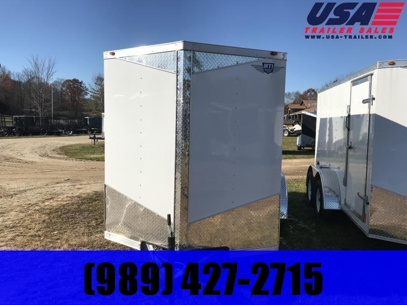2019 MTI Trailers 6x12 White Barn Doors Enclosed Cargo Trailer