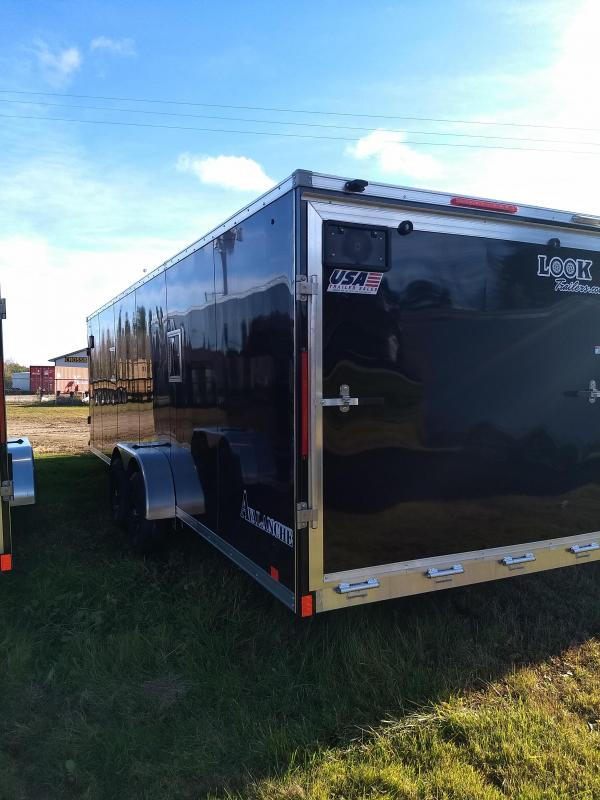 New 7x29 Look Enclosed 4 Place Snowmobile Trailer