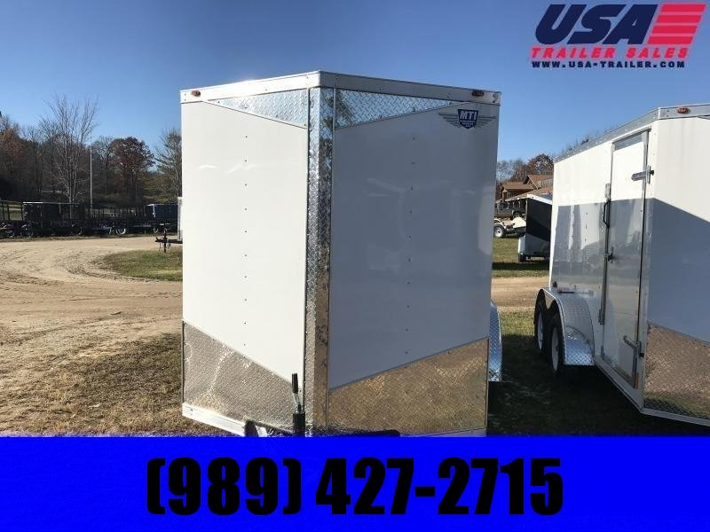 2020 MTI Trailers 6x10 white Enclosed Cargo Trailer