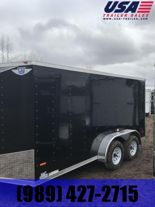 2019 MTI Trailers 7x14 Black Ramp Enclosed Cargo Trailer