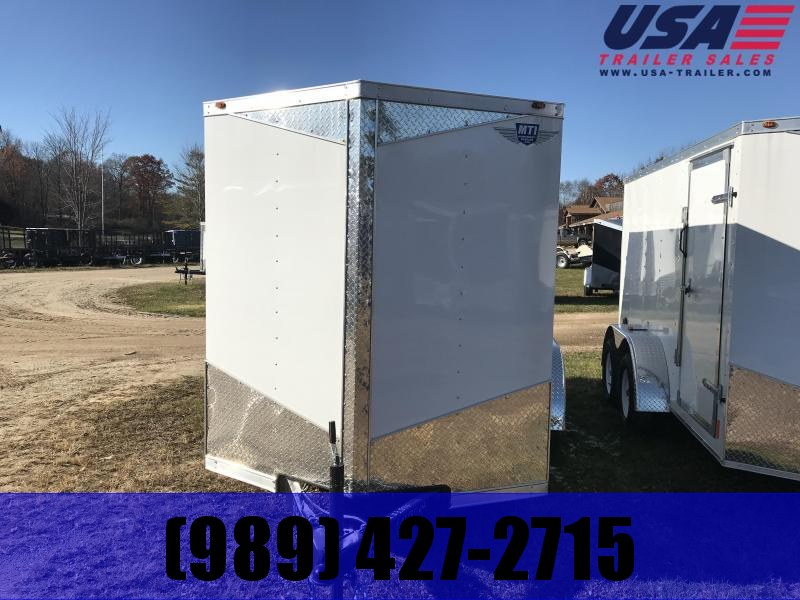 2018 MTI Trailers 7x16 MTI White Barn Enclosed Cargo Trailer