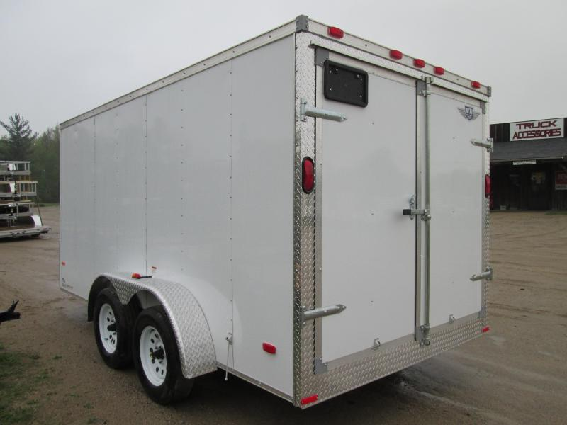 2019 MTI Trailers 7x14 White Barn  Enclosed Cargo Trailer
