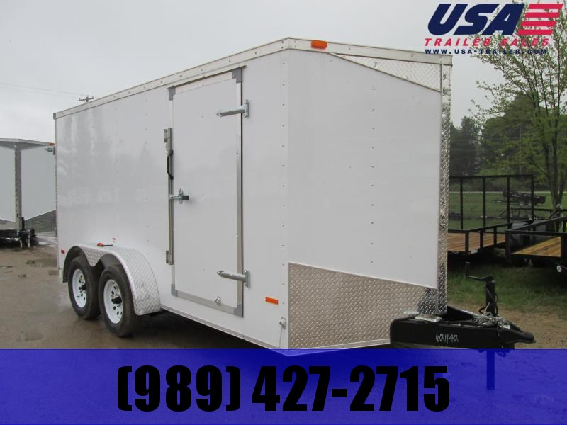 2019 MTI Trailers 7x14 White Barn Plus 12 Enclosed Cargo Trailer