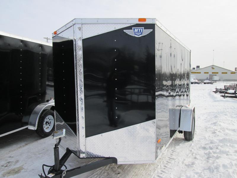 2018 MTI Trailers 5x10 Black Ramp Enclosed Cargo Trailer