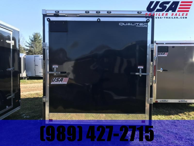 2019 Qualitec 6x12 Black Ramp Enclosed Cargo Trailer