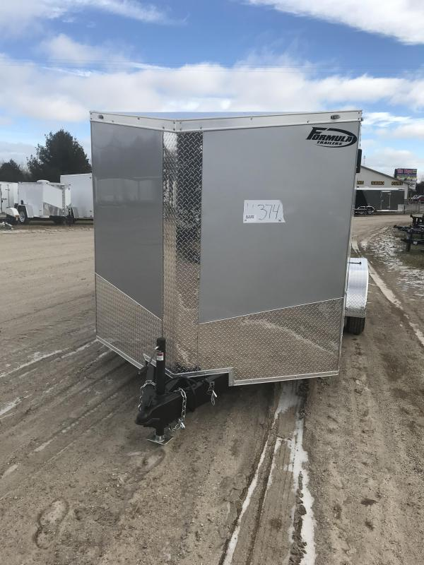 2019 MTI Trailers 7x14 Silver Ramp Added height Enclosed Cargo Trailer