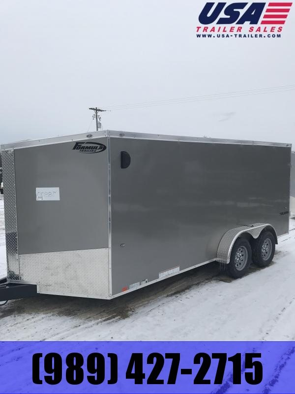2019 Formula Trailers 7x16 Pewter Ramp Enclosed Cargo Trailer