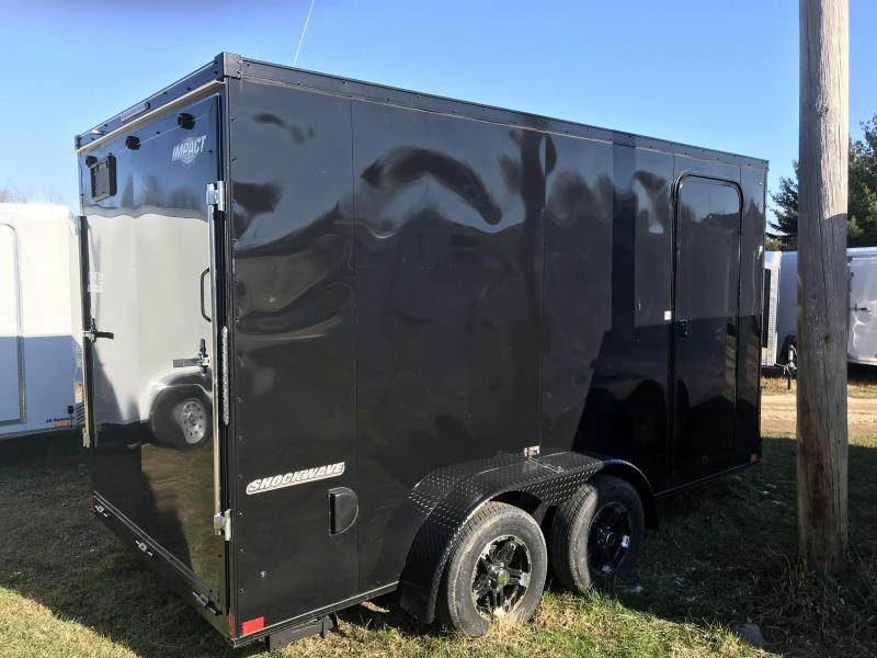 2019 Impact Trailers 7x14 Black out With 12 added ht Enclosed Cargo Trailer