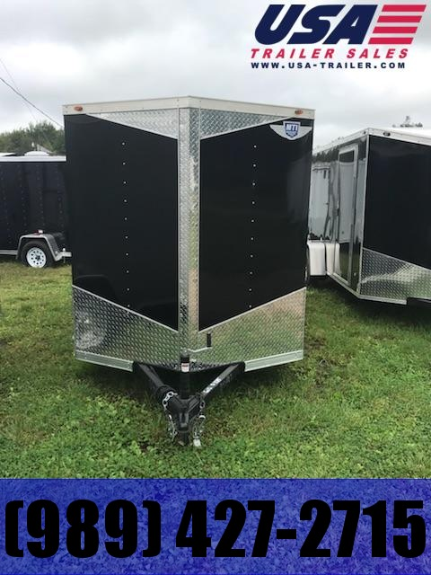 2018 MTI Trailers 5x10 Black Barn doors Enclosed Cargo Trailer