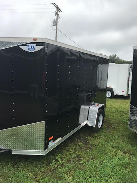 2018 MTI Trailers 5x10 Black Barn doors Enclosed Cargo Trailer