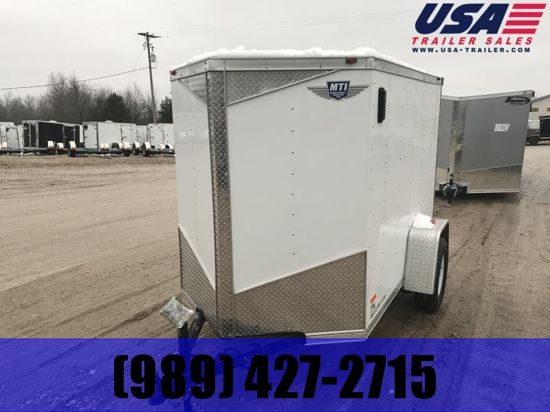 2019 MTI Trailers 5x8 white ramp Enclosed Cargo Trailer