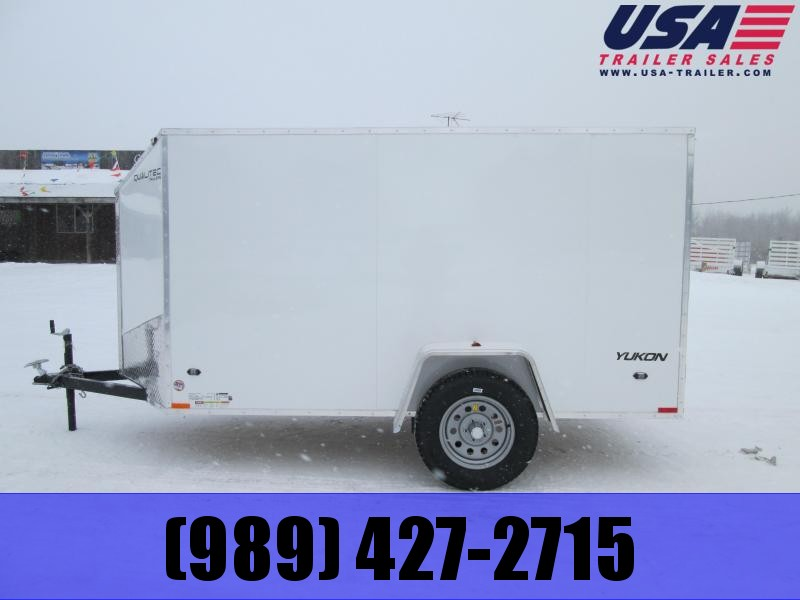 2019 Qualitec 6x12 White Barn Doors Enclosed Cargo Trailer