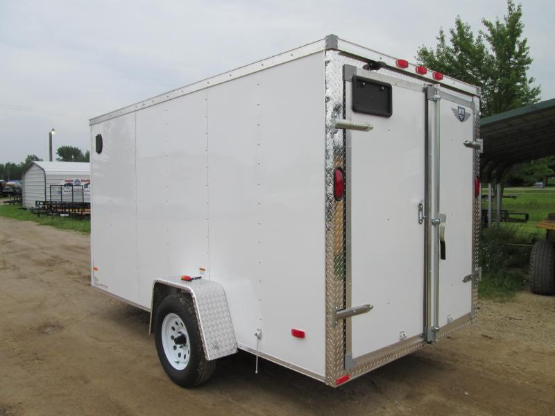2019 MTI Trailers 5x8 White with Barn Doors Enclosed Cargo Trailer