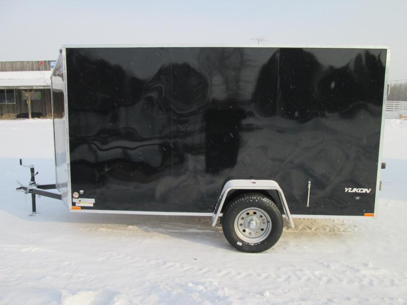 2020 Qualitec 6x10 Black Barn Doors Enclosed Cargo Trailer