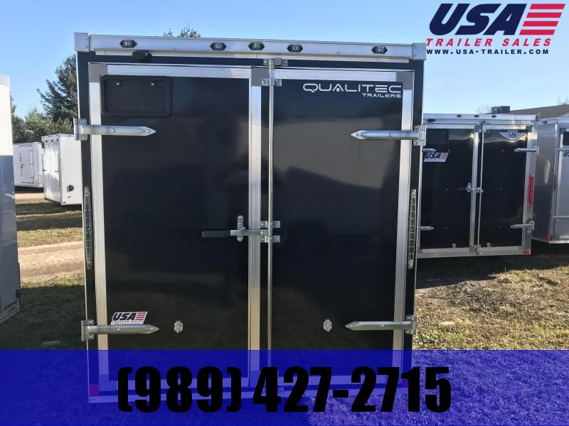 2018 Qualitec 6X12 Black doors Enclosed Cargo Trailer