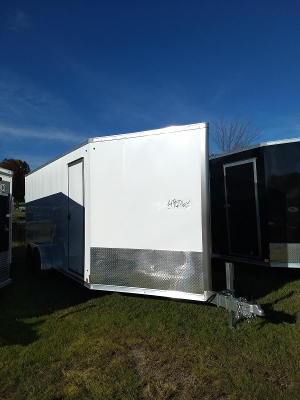 New 7x23 Look Enclosed 3 Place Snowmobile Trailer