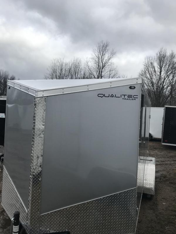 2019 Qualitec 7x14 ramp black Enclosed Cargo Trailer