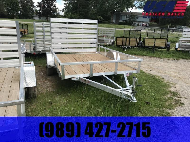 2019 H and H Trailer 82x14 Aluminum Utility Trailer