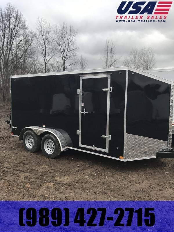 2019 Qualitec 7x16 Black Cargo Trailer