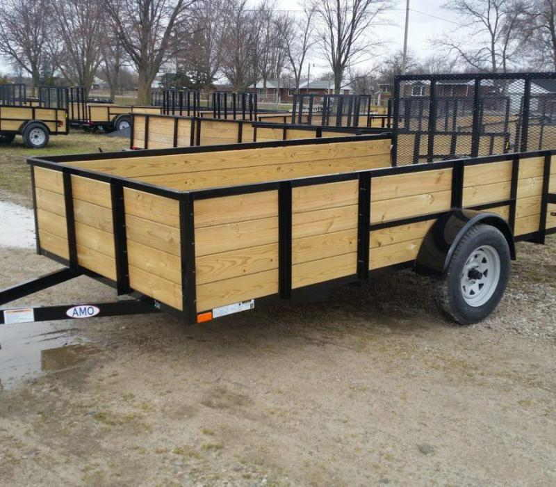 6 x 12 A.M.O. High Side Landscape Trailer