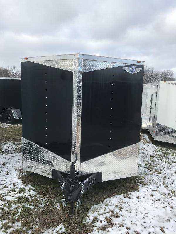 2019 MTI Trailers 7x16 Black Ramp Added Height Enclosed Cargo Trailer