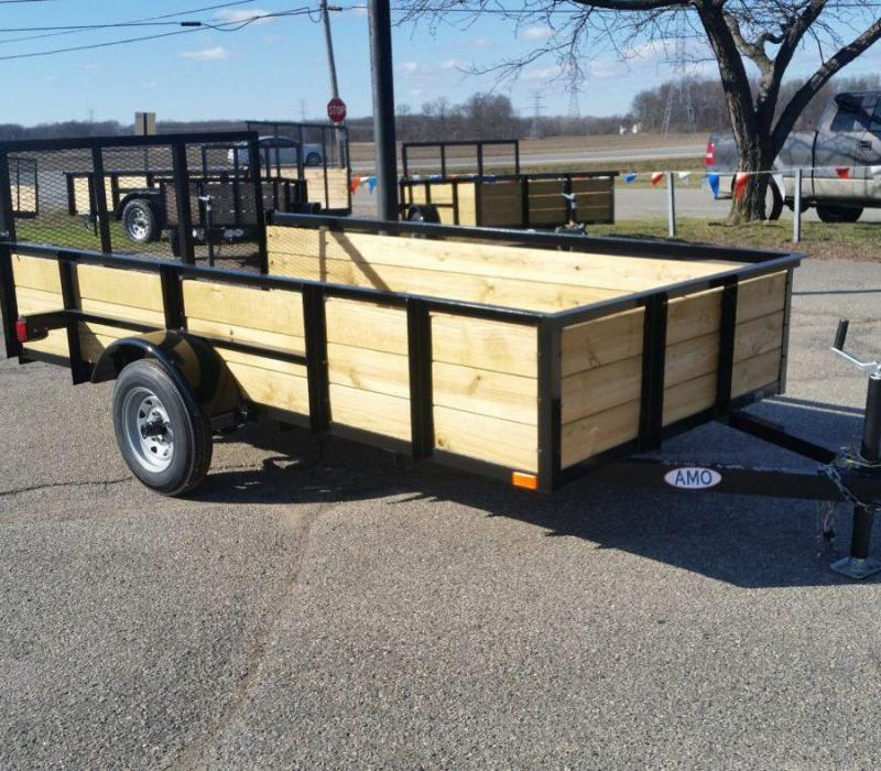 4 x 8 A.M.O. Landscape Light Duty Wood Side Trailer