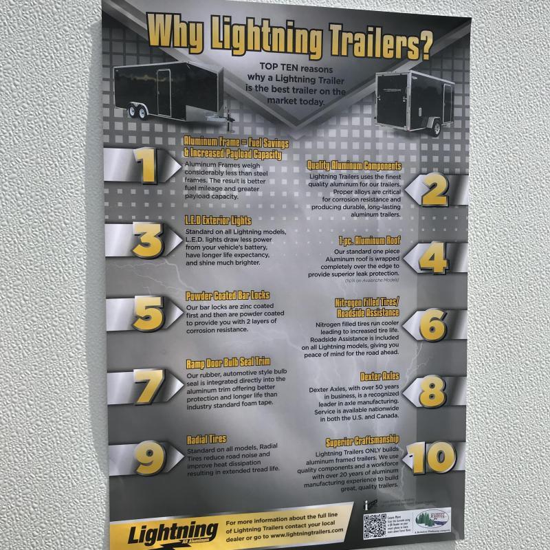 2020 Lightning Trailers 8 x 24 car hauler Enclosed Cargo Trailer