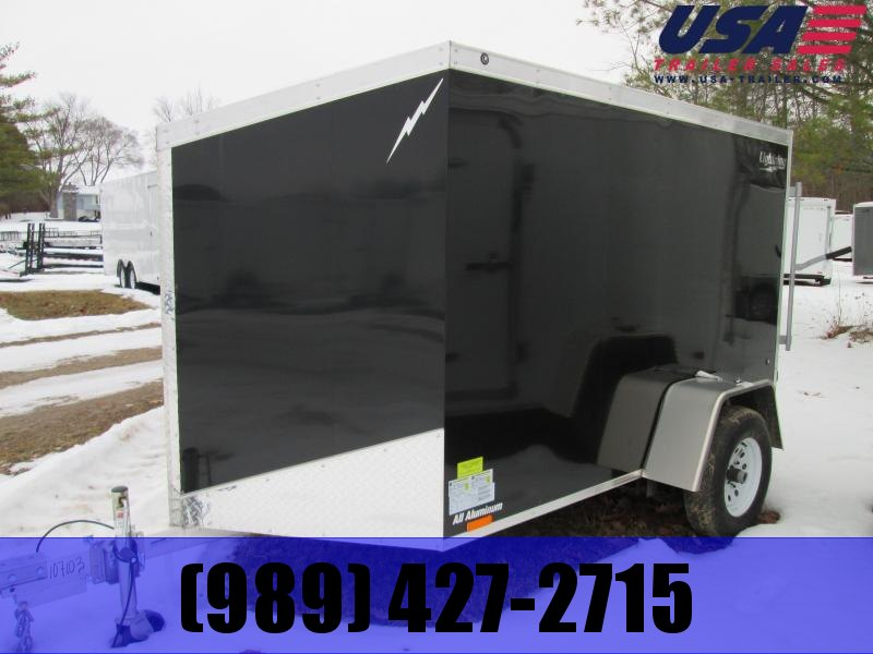 2017 Lightning Trailers 6x10 Black Enclosed Cargo Trailer