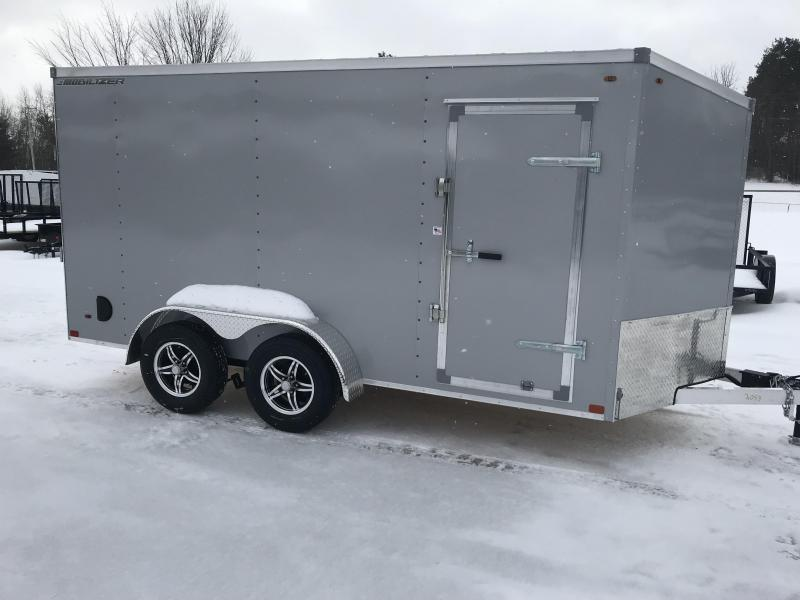 2018 MVM7 7x14 Silver Ramp Enclosed Cargo Trailer