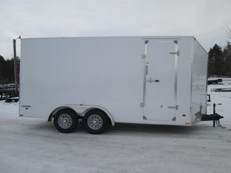 """2019 Qualitec 7 x 14 12"""" ADDED White Enclosed Cargo Trailer"""