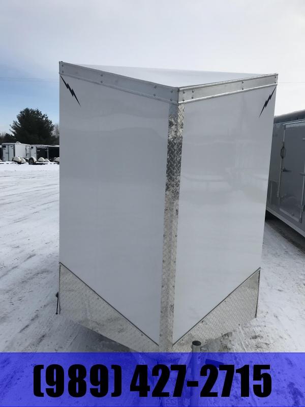 2020 Lightning Trailers 5 x 10 White Barn Enclosed Cargo Trailer