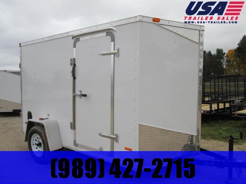 2019 MTI Trailers 6x10 White Ramp Door Enclosed Cargo Trailer