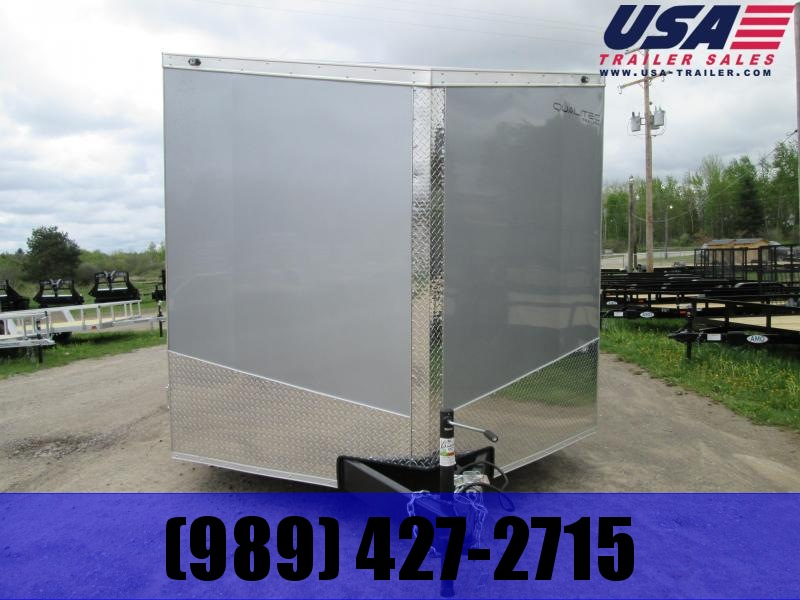 2018 Qualitec 7x16 Silver Rear Doors Enclosed Cargo Trailer