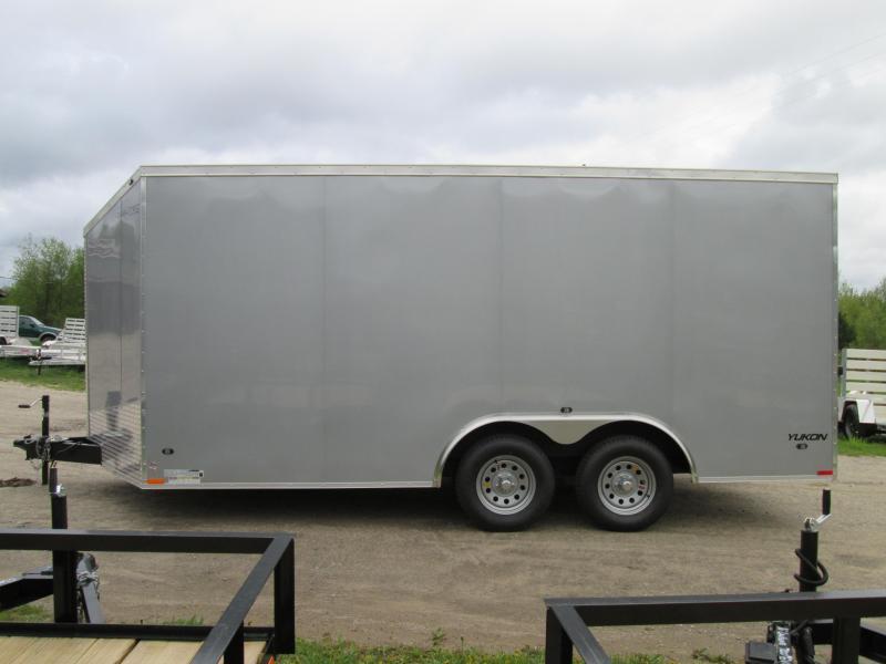 2018 Qualitec 7x16 Silver Rear Doors Enclosed Cargo Trailer