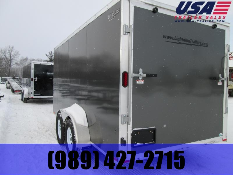 2018 Lightning Trailers 7x16 Silver Ramp Enclosed Cargo Trailer