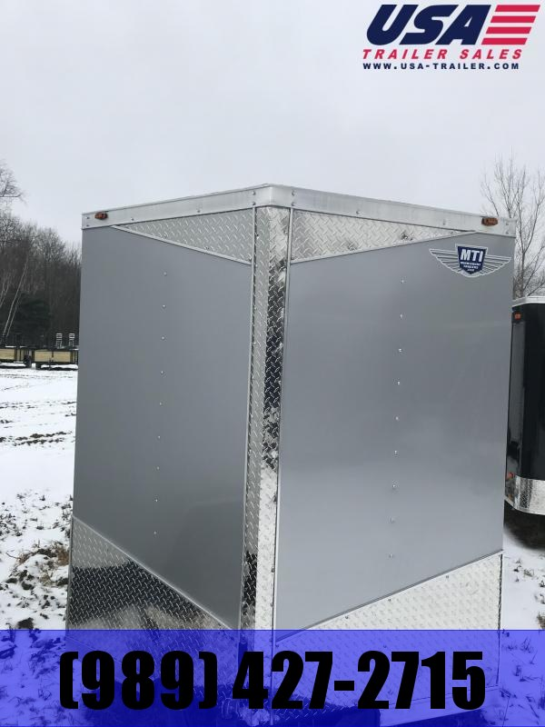2019 MTI Trailers 6x12 Silver Ramp Enclosed Cargo Trailer