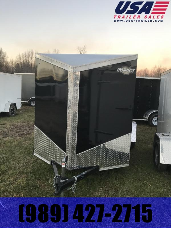 2019 Impact Trailers 7x14 Black ramp Enclosed Cargo Trailer
