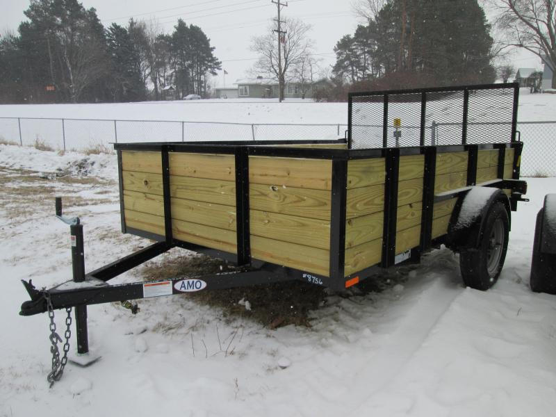 2019 AMO 6x10 Wood Side Utility Trailer