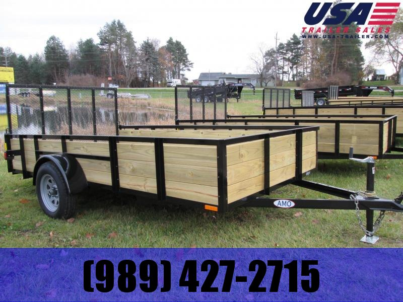 2019 AMO 6x10 Wood Side Utility Trailer