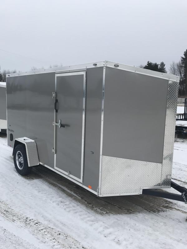 2019 Formula Trailers 6 x 12 Pewter Ramp Enclosed Cargo Trailer