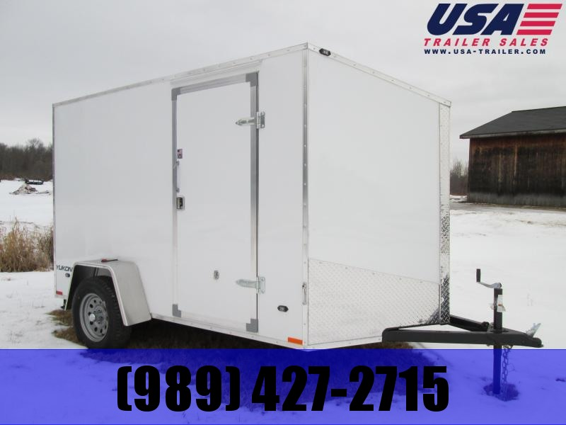 2019 Qualitec 6x10 White Barn Enclosed Cargo Trailer