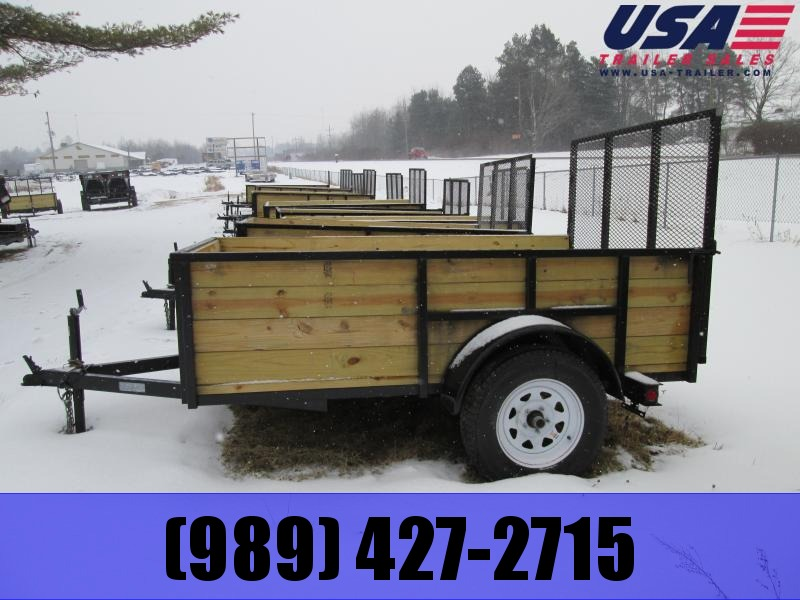 2018 Other 5x8 Wood Side Utility Trailer