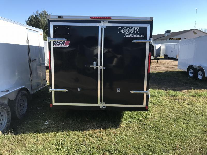 2019 Look Trailers 7x14 barn doors Black Enclosed Cargo Trailer