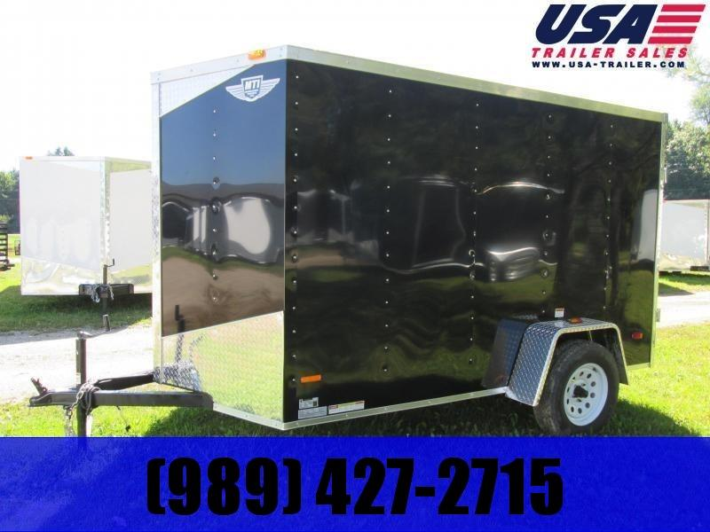 2019 MTI Trailers 5x8 Black Enclosed Cargo Trailer