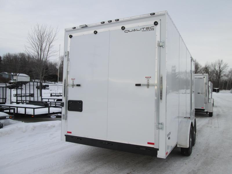2019 Qualitec 7 x 14 12 White Ramp Enclosed Cargo Trailer