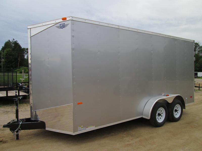"""2020 MTI Trailers 7 x 16 Ramp added height 12""""  Enclosed Cargo Trailer"""
